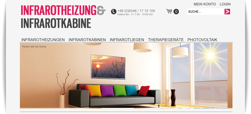 Website Infrarotheizung Screen 1