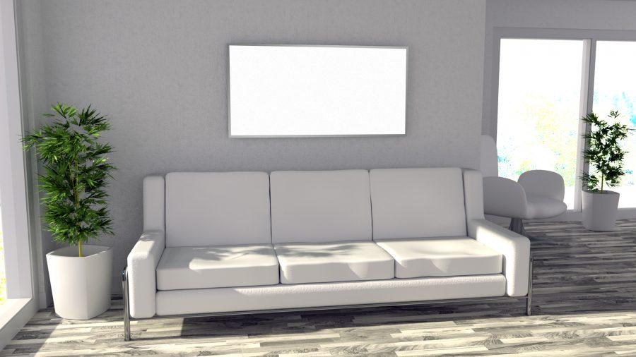 powersun reflex mit alurahmen im wohnzimmer
